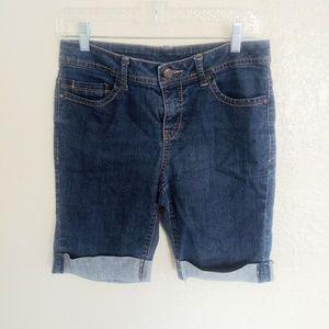 [ FADED GLORY cute jean shorts size 6 ]